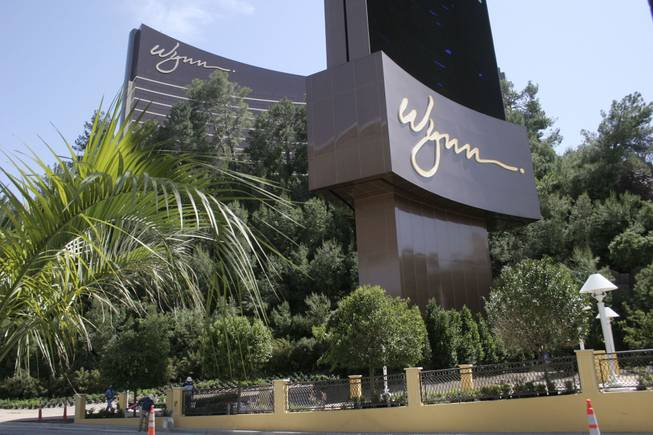 The Wynn Las Vegas Resort and Casino prior to its opening in 2005.
