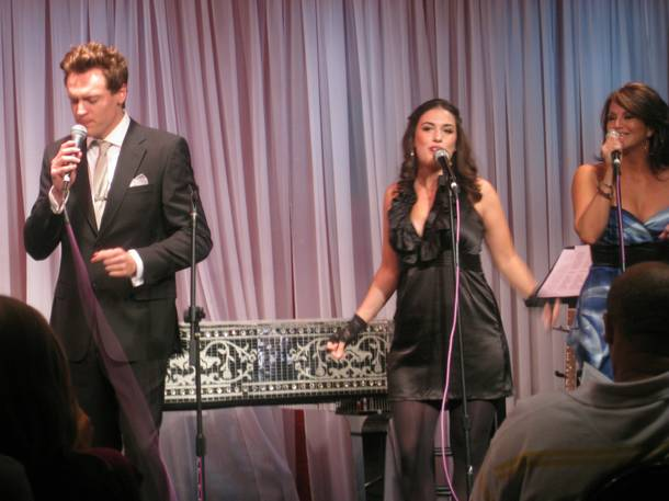 Erich Bergen with Ali Spuck and Keely Vasquez during an appearance at Liberace Museum in 2009.