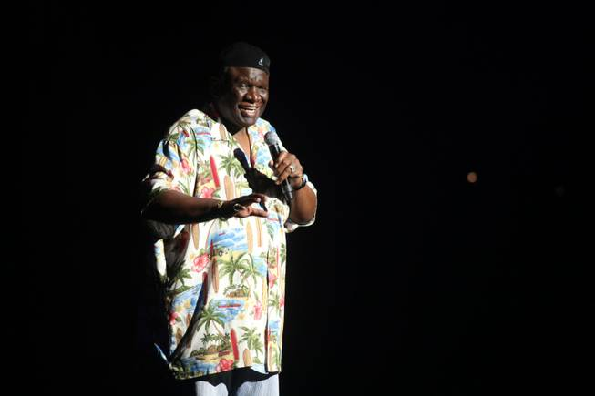George Wallace performs at the Golden Rainbow's 23rd Annual Ribbon of Life show at the Las Vegas Hilton.
