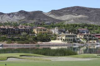 Homes overlooking Reflection Bay Golf Course at Lake Las Vegas.