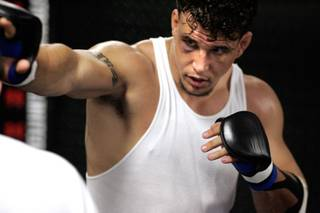 UFC Interim Heavyweight Champion Frank Mir trains at Striking Unlimited on June 26.