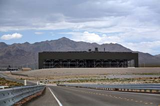 A view of NV Energy's Walter M. Higgins Generating Station outside of Primm, Nevada.