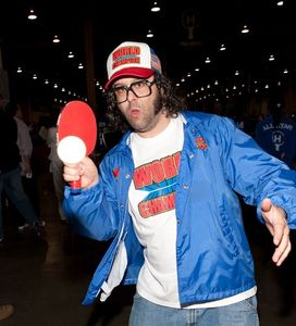"""30 Rock"" star Judah Friedlander was among the celebrities who were on hand over the weekend for the first annual Hard Bat Classic at the Sands Expo Center in Las Vegas."