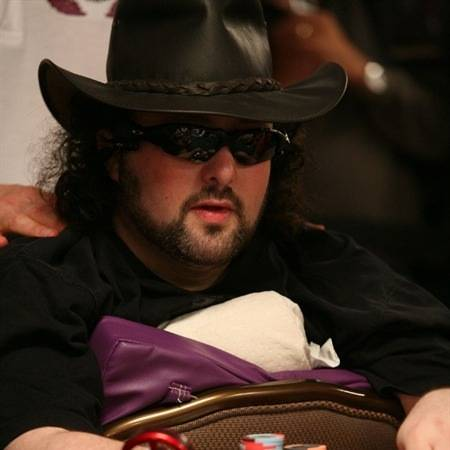 Eventual $50,000 HORSE World Championship tournament winner David Bach gets comfortable during a seven-hour heads-up session for the title.