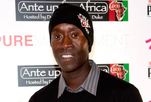 Don Cheadle arrives at the Ante Up for Africa Poker Tournament at The Rio on July 2, 2009.