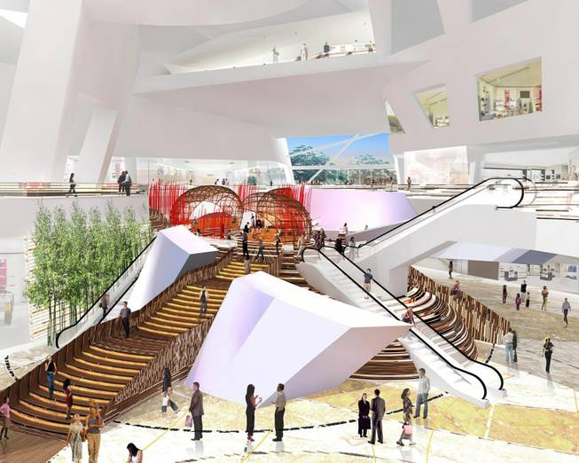 High-end retail: A rendering shows the interior of Crystals, the retail component of CityCenter.