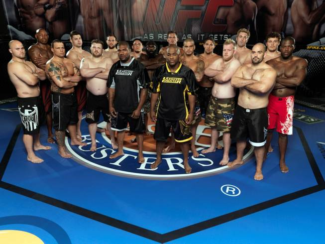 The cast of The Ultimate Fighter No. 10 poses for a shot for the popular reality show that debuts on Sept. 16 on Spike TV.