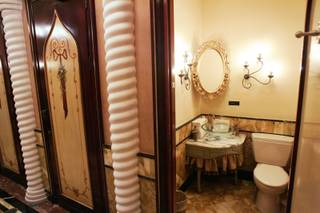 This is a stall in the ladies restroom at Zeffirino Ristorante in the Venetian Friday, July 10, 2009. The restroom is in the running for the title of America's Best Public Restroom.