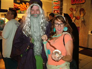 Weston Monks as Dumbledore and Leah Villalobos as Sybill Trelawney.
