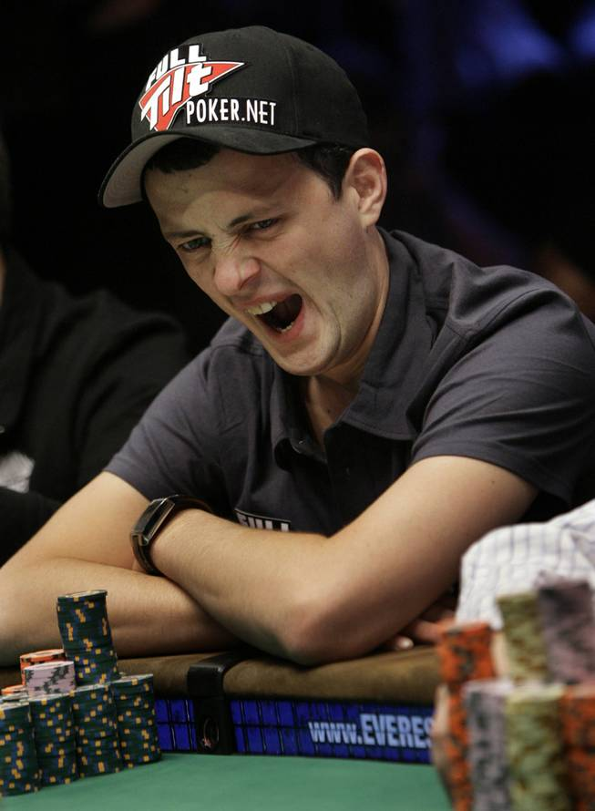 James Akenhead yawns during the World Series of Poker at the Rio Hotel and Casino in Las Vegas on Wednesday, July 15, 2009.
