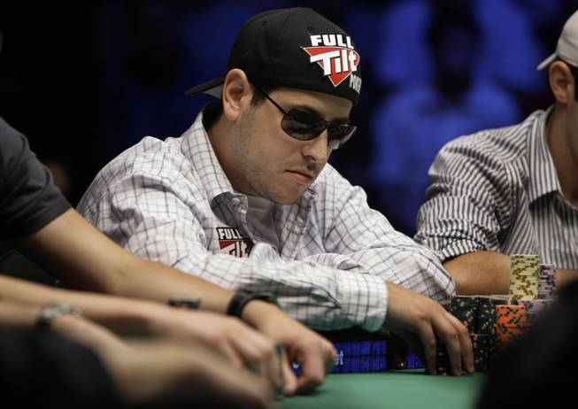 Eric Buchman pauses during the World Series of Poker at the Rio Hotel and Casino in Las Vegas on Wednesday, July 15, 2009.