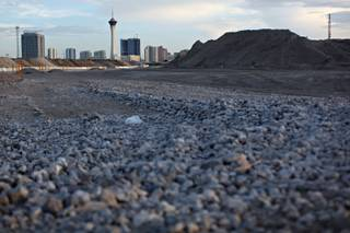 The future home of Symphony Park in downtown Las Vegas is photographed on Sunday, July 19, 2009.