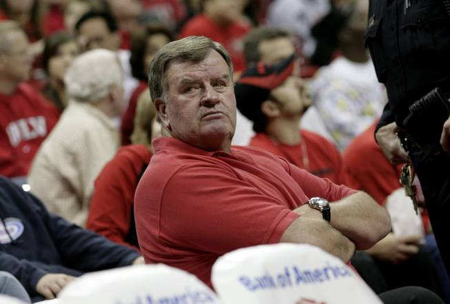 Cliff Findlay watches a UNLV game at the Thomas & Mack Center.