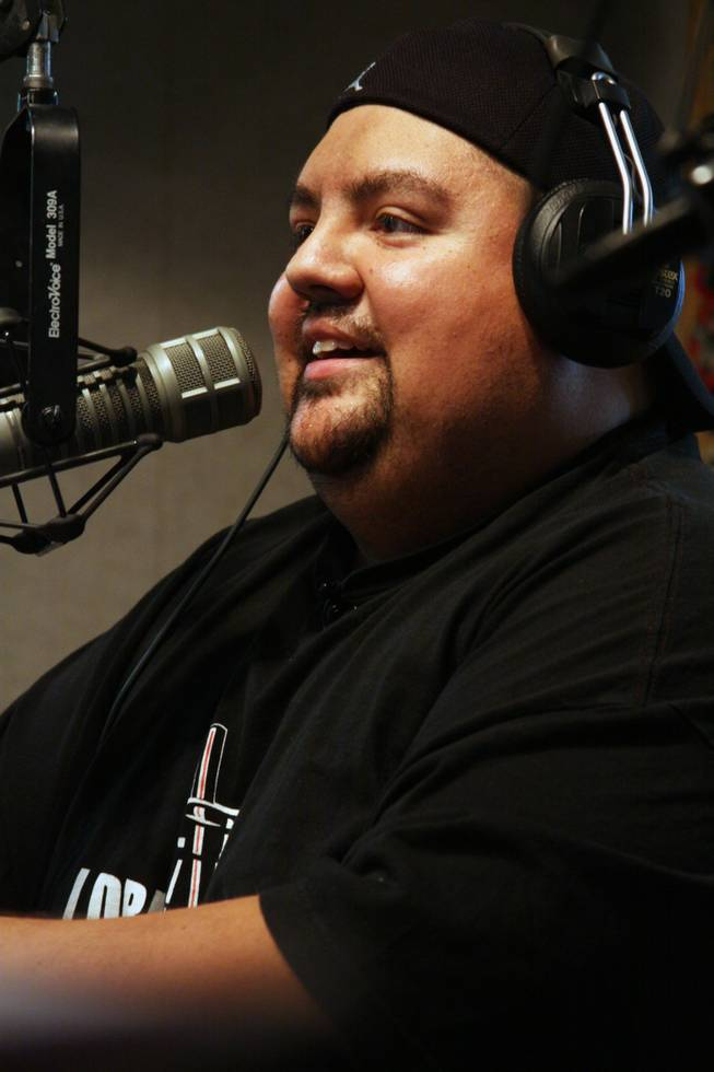 Comedian Gabriel Iglesias speaks on air during 98.5 FM KLUC's Morning Zoo on Monday, July 20.