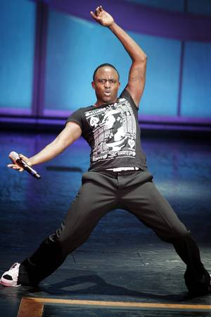 Wayne Brady performs at the Venetian Wednesday, July 22, 2009.