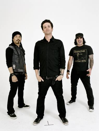 Band members are, from left, Pat Kim, Scott Russo and Steve Morris.