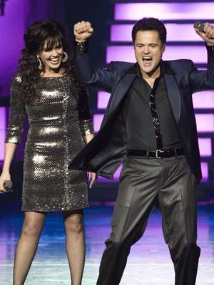 Marie & Donny Osmond onstage.
