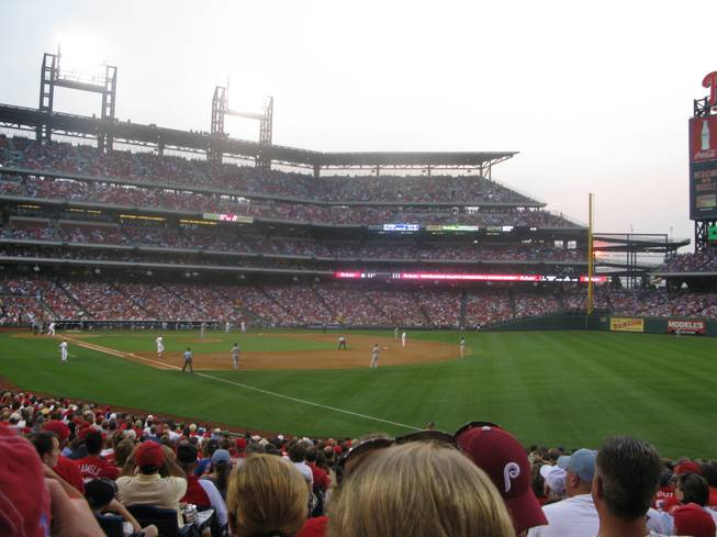 A view from section 109 at Citizens Bank Ballpark in Philadelphia Tuesday as the Phillies took on the Rockies at home.