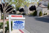 A foreclosed home is shown in the Silverado neighborhood of Las Vegas.