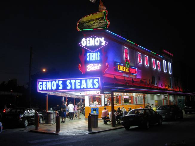 Geno's, and its bright lights, are always open for business.