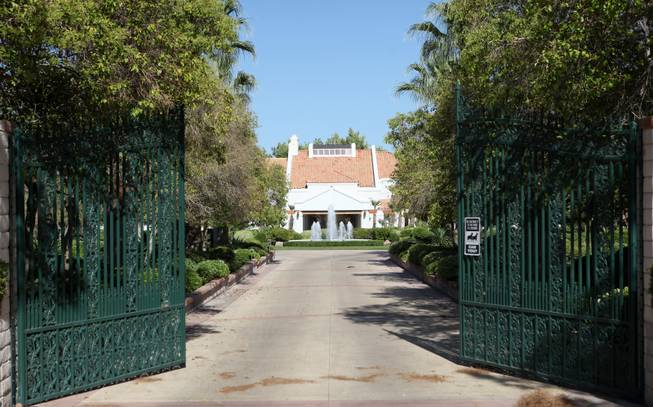 The gates that lead to the estate owned by the Primm family open to reveal a luxurious 10-acre compound. Pop singer Michael Jackson had plans to make an offer on the $16.5 million estate on Tomiyasu Lane.