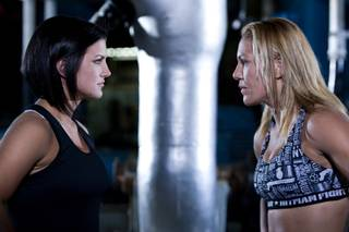 Gina Carano, left, and Cristiane