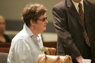 Former Clark County Recorder Frances Deane enters a guilty plea as part of a plea bargain in District Court Friday, Aug. 14.
