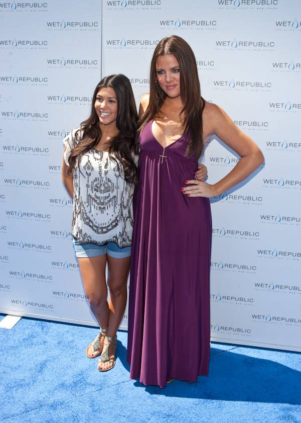 "Reality show sisters Kourtney and Khloe Kardashian hosted at Wet Republic on Aug. 16. Their new show,  ""Kourtney and Khloe Take Miami,"" premiered on E! later that night."