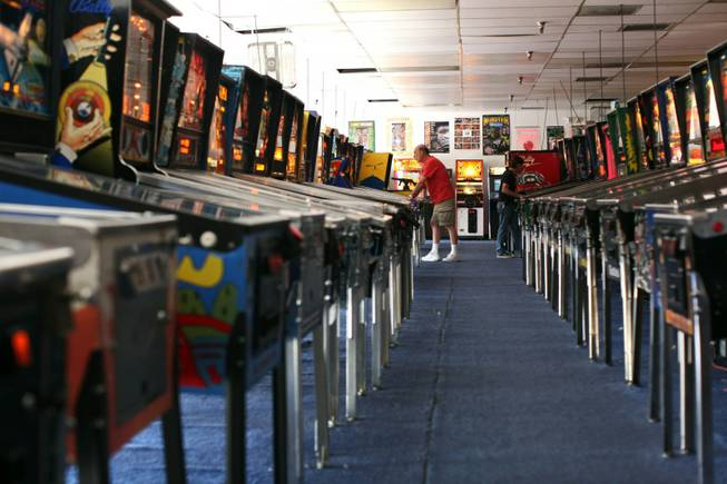 Tourists and locals alike visit the Pinball Hall of Fame at 3330 E. Tropicana Ave. in Las Vegas on Wednesday, Aug. 19, 2009.