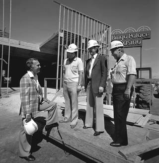 Frank Fertitta during construction of the Bingo Palace.