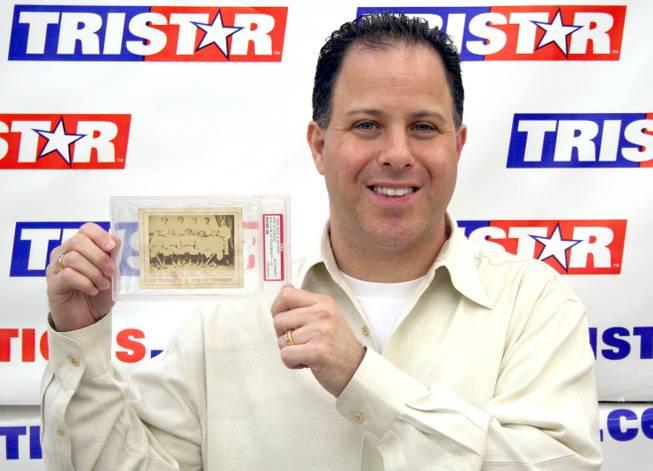 Rare Baseball Card On Display At Henderson Card Shop Las