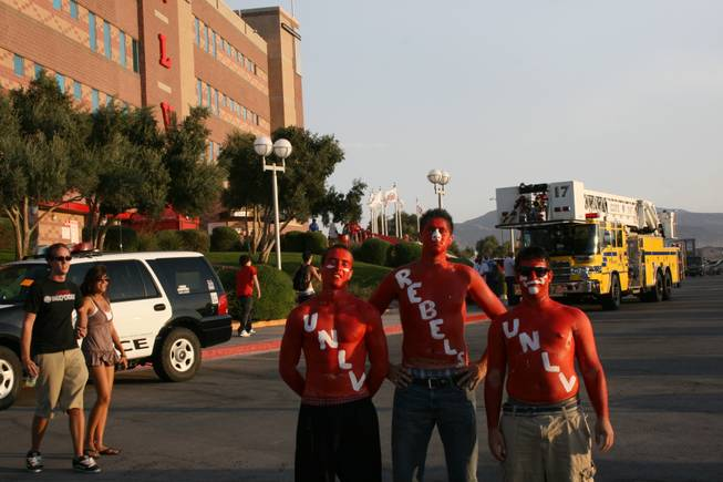 Rebels fans prepare for kickoff against Sacramento State.