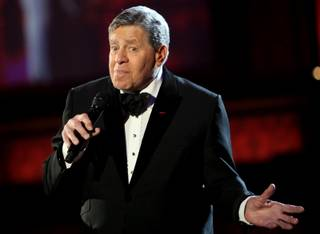 Jerry Lewis hosts the 44th Annual Jerry Lewis MDA Telethon on Sunday night. The yearly telethon is at the South Point and earns millions of dollars in the fight against muscular dystrophy.