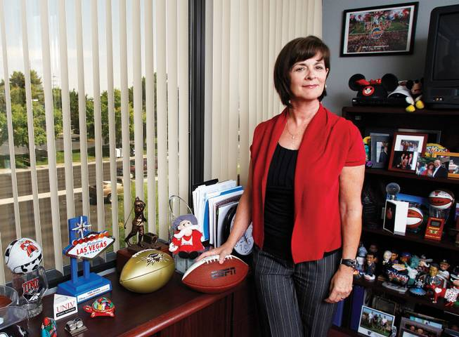 TINA KUNZER-MURPHY: The Las Vegas Bowl executive director has achieved years of sellout crowds and recently landed a multiyear sponsorship by MAACO auto paint and body shops.