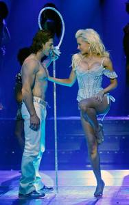 Stoyan Metchkarov and Holly Madison in <em>Peepshow</em> at Planet Hollywood.