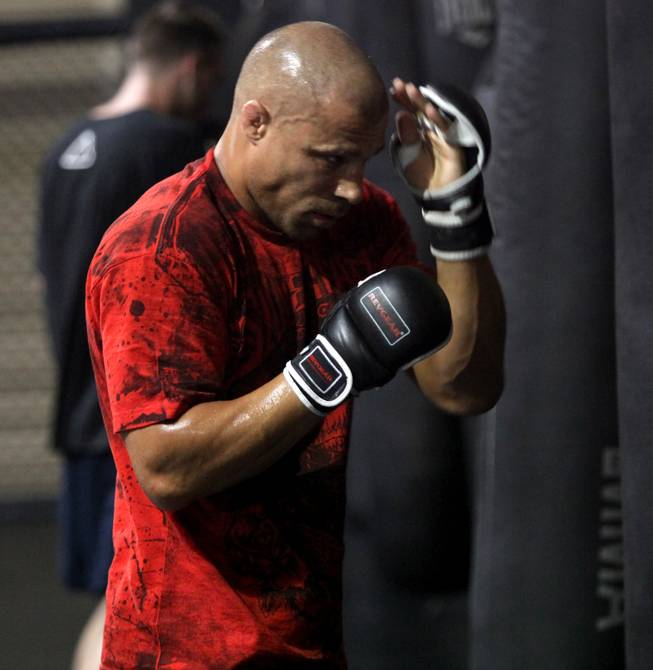 Frank Trigg shadow boxes during a training session at Xtreme Couture gym in preparation for his UFC 103 fight against Josh Koscheck on Sept. 19 in Dallas.