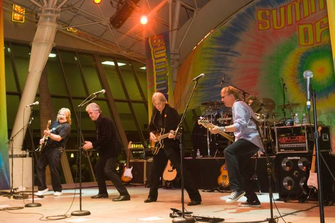 "Three Dog Night performs during the closing ""Summer of '69"" series at Fremont Street Experience."