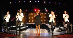 Mary Wilson, an original member of The Supremes, performs with Human Nature at the Imperial Palace, Sept. 19, 2009.