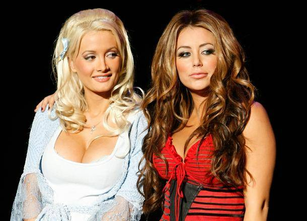 Holly Madison as Bo Peep and Aubrey O'Day as Peep Diva in <em>Peepshow</em> at Planet Hollywood.