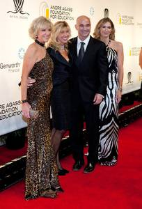Elaine Wynn, Kevyn Wynn, Andre Agassi and Steffi Graf arrive at the 14th annual Andre Agassi Foundation for Education's Grand Slam for Children benefit at Wynn Las Vegas.