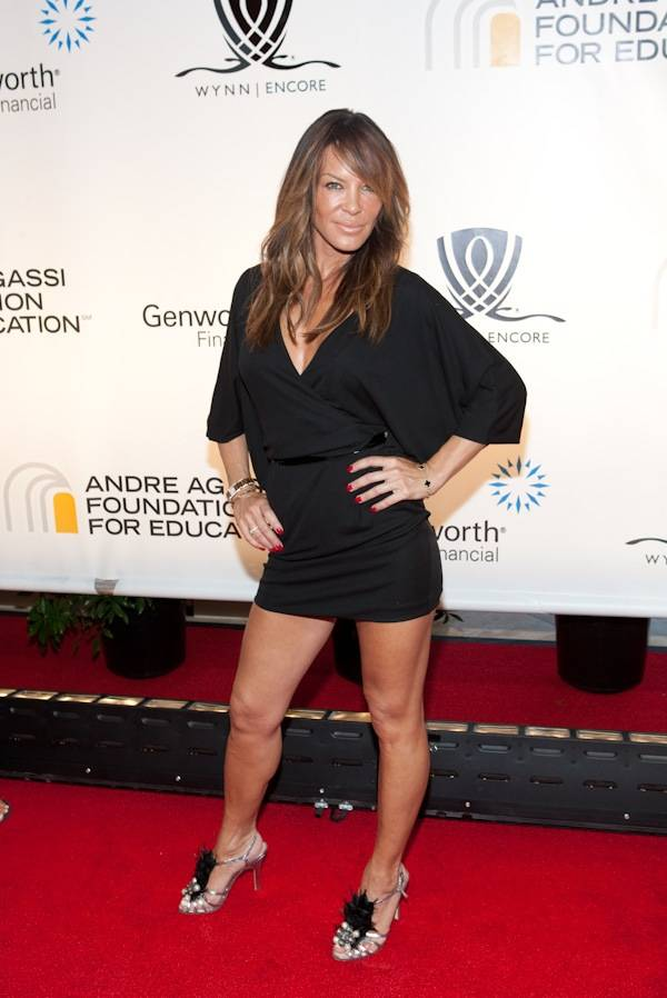 Robin Antin arrives at the 14th annual Andre Agassi Foundation for Education's Grand Slam for Children benefit at Wynn Las Vegas.
