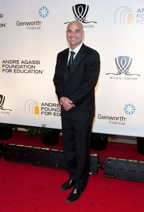 Andre Agassi arrives at the 14th annual Andre Agassi Foundation for Education's Grand Slam for Children benefit at Wynn Las Vegas.