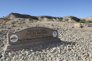 Whitney Mesa Nature Preserve in Henderson offers seven hiking trails that lead to unique geologic formations, an underground stream and scenic overlooks. The $1.7 million preserve was built with federal money from the Southern Nevada Public Lands Management Act.