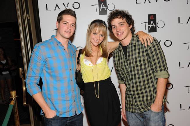 Jason Kennedy, Johanna Braddy and Patrick Sebes were among the stars celebrating the fourth anniversary of Tao and Lavo Saturday, Oct. 3, 2009, in Las Vegas.