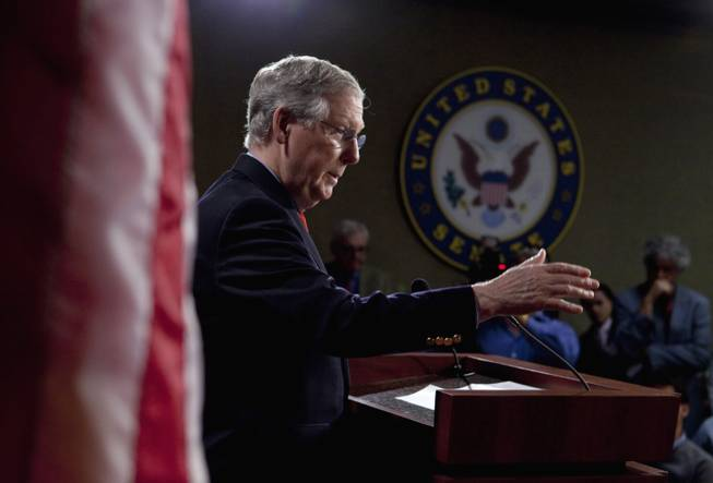 "Senate Minority Leader Sen. Mitch McConnell would not offer support for fellow Republican Sen. John Ensign of Nevada during a news conference Friday, saying, ""I really don't have any observations to make about the Ensign matter."""