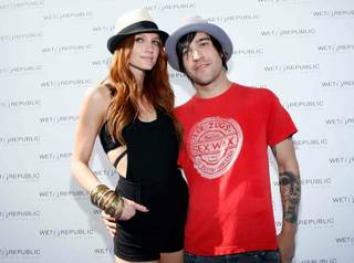Ashlee Simpson-Wentz celebrates her 25th birthday with Pete Wentz at MGM Grand's Wet Republic.