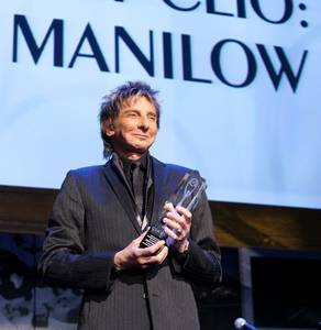 Barry Manilow attends the Clio Awards on May 18, 2009, at The Joint in the Hard Rock Hotel, where he received an honorary Clio Award.