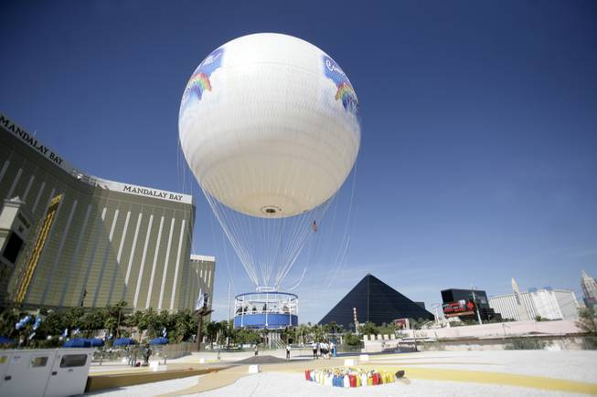 Cloud Nine Entertainment opened the world's largest land-tethered, helium balloon Thursday on the Las Vegas Strip.