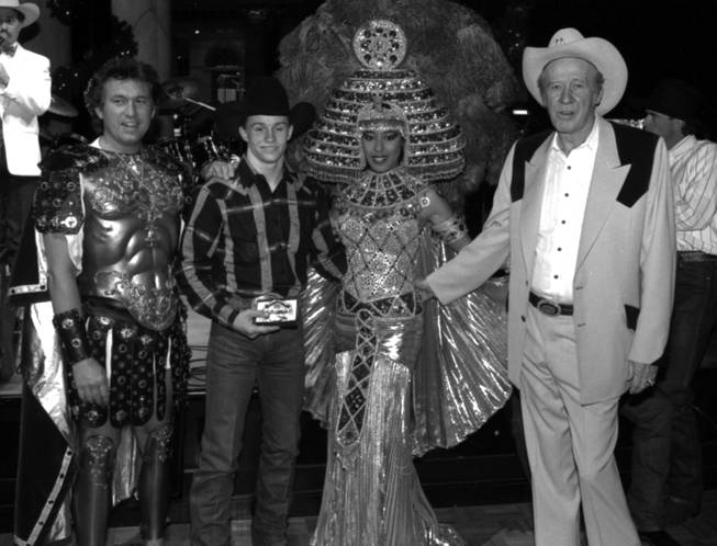 Ty Murray All-Around Champion National Finals Rodeo NFR awards at Caesars Palace Dec. 8, 1989.