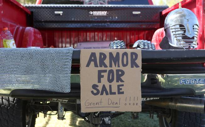 Used armor is for sale in the parking lot at ...